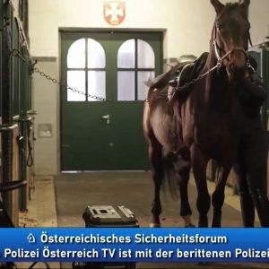 Berittene Polizei Österreich in Österreichsiches Sicherheitsforum