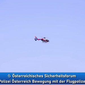 Bewegung Pro Polizei Österreich mit der Flugpolizei