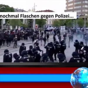 Flaschenwurf gegen die Polizei Wien Pro Polizei Bewegung Österreich