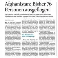 Österreichischer NotEinsatz Kabul August 2021