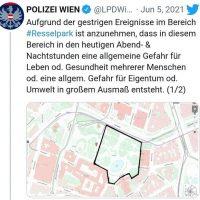 Platzverbot Karlskirche Pro Polizei Wien